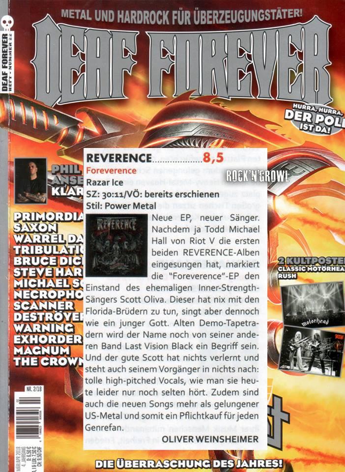8.5/10 Deaf Forever Mag 'Foreverence' Review